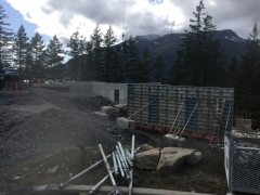 Apr 10 - Formwork for corridor walls