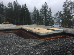 Apr 16 - Suspended slab main floor over storage