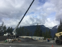 Apr 17 - Installing wall panels via crane