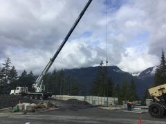 Apr 17 - Installing wall panels via crane