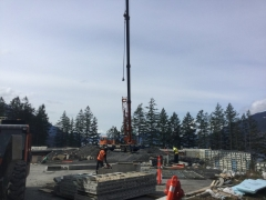 Apr 18 - Installing upper wall basement panels via crane