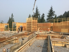 Aug 14 - Pouring elevator shaft