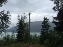 BC Hydro pole - before