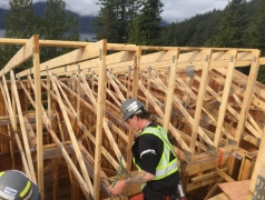 CRCC Oct 26 - Truss install starting at GL 1