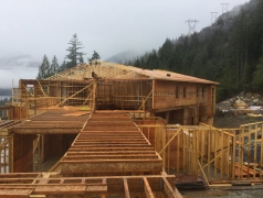 CRCC View of the installed trusses