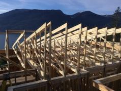 Dec 4 - Second floor roof trusses