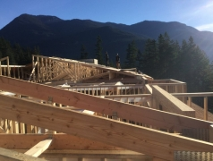 Dec 7 - Second floor roof sheathing