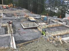 Feb 9 - footings complete upper basement