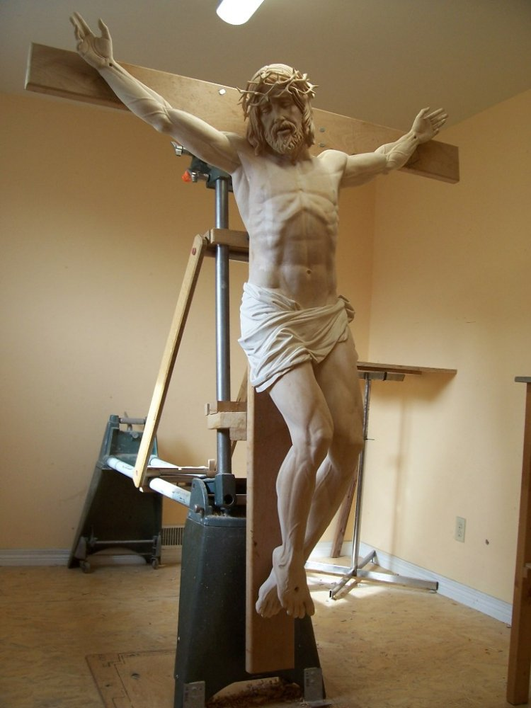 Jesus carving progress