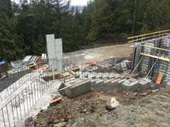 Jan 17 - formwork started on step footing