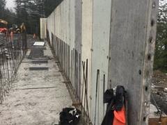 Jan 25 - corridor wall formwork