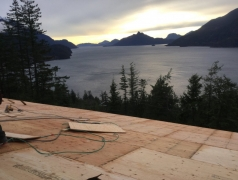 Jan 11 - Truss roof sheathing complete