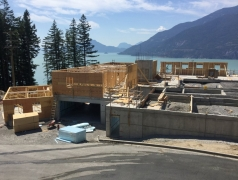 July 25 - GL 4.5-7 Framing main floor, staff bedrooms, change rooms and washrooms.