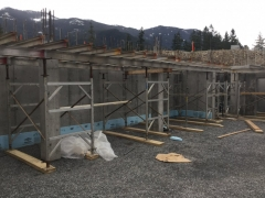 Mar 13 - Suspended slab to C1 columns over lower basement