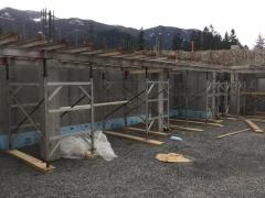 Mar 13 - Suspended slab to C1 columns over lower basement