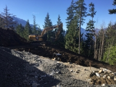 Mar 16 - Access road at gatehouse for blasting