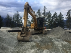 Mar 16 - Excavator for interior backfill