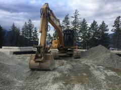 Mar 16 - Excavator for interior backfill