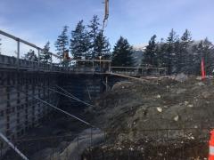 Mar 7 - Placing concrete in exterior retaining wall (non exposed)