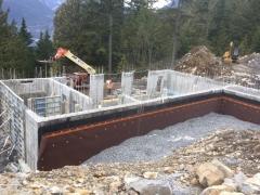Feb 13 - stripping lower basement walls