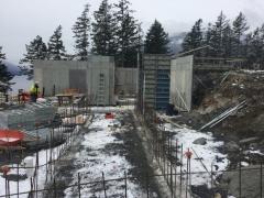 Feb 21 - upper basement wall forms