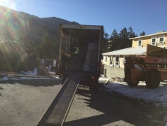 Feb 25 - Delivery of Vinyl Doors