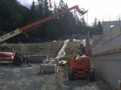 May 8 - Installing high wall formwork
