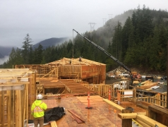 Oct 29 - Landing beams for truss install