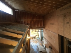 Nov 22 - Second floor clerestory, plumbing vents and sprinklers installed