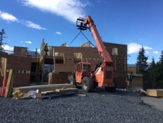 Oct 9 - Craning in GL 1 exterior wall