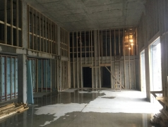 Sept 21 - Client Amenity Back Framing Complete