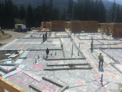 Aug 28 - Rebar being installed on main floor SOG