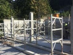 Sept 6 - Shoring for suspended slab at gatehouse