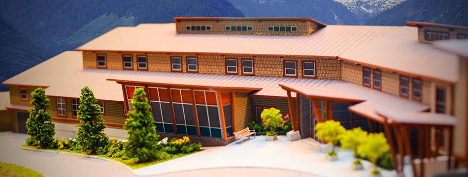 CRCC Scale Model - Front Entrance